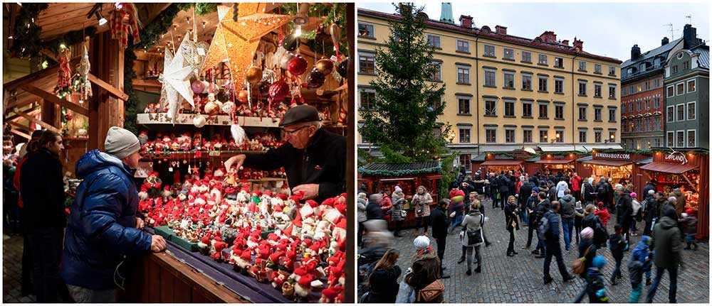 Stortorgets julmarknad i Gamla Stan i Stockholm lockar både stockholmare och turister.