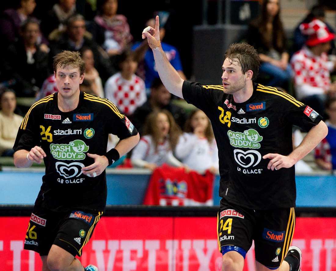 Niclas Barud och Fredrik Larsson i Sävehof.