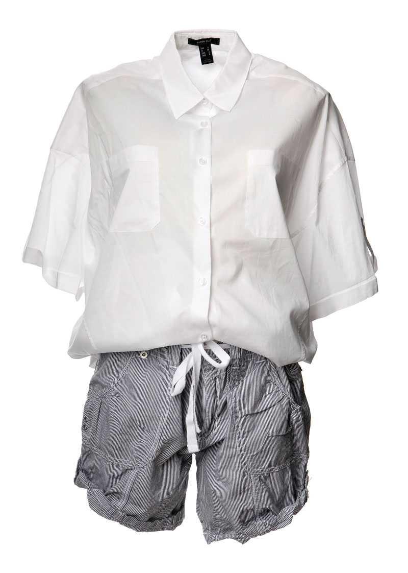 Skjorta, 299 kronor, Mango. Shorts, 149 kronor, Lindex.