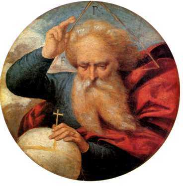 """Garofalo II, eg Benvenuto Tisi: """"Gud fader välsignande jordklotet""""."""
