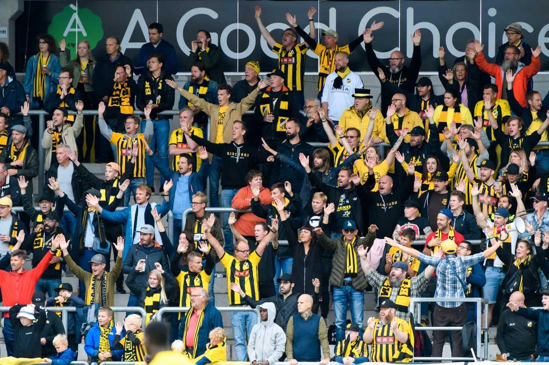 Häcken-fans under en match hösten 2019.