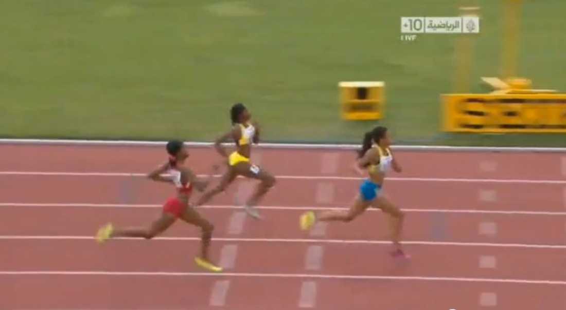 Ekelund var överlägsen in i mål i finalen på 200 meter.
