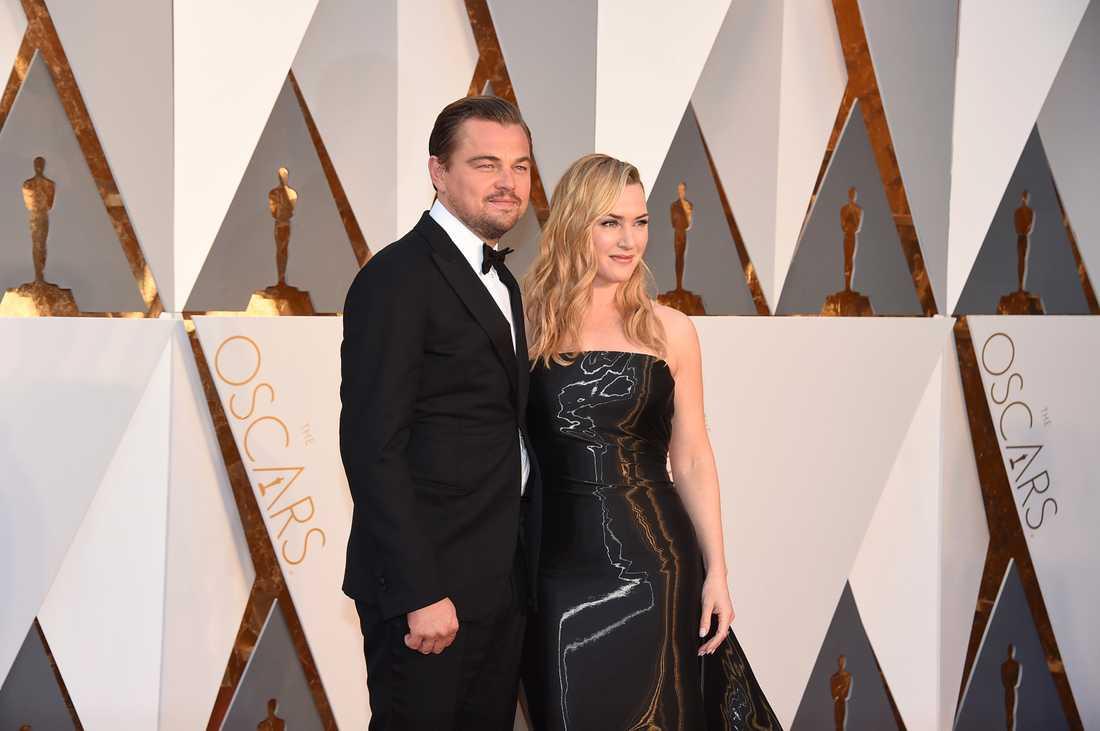 Leonardo DiCaprio och Kate Winslet tillsammans på Oscarsgalan