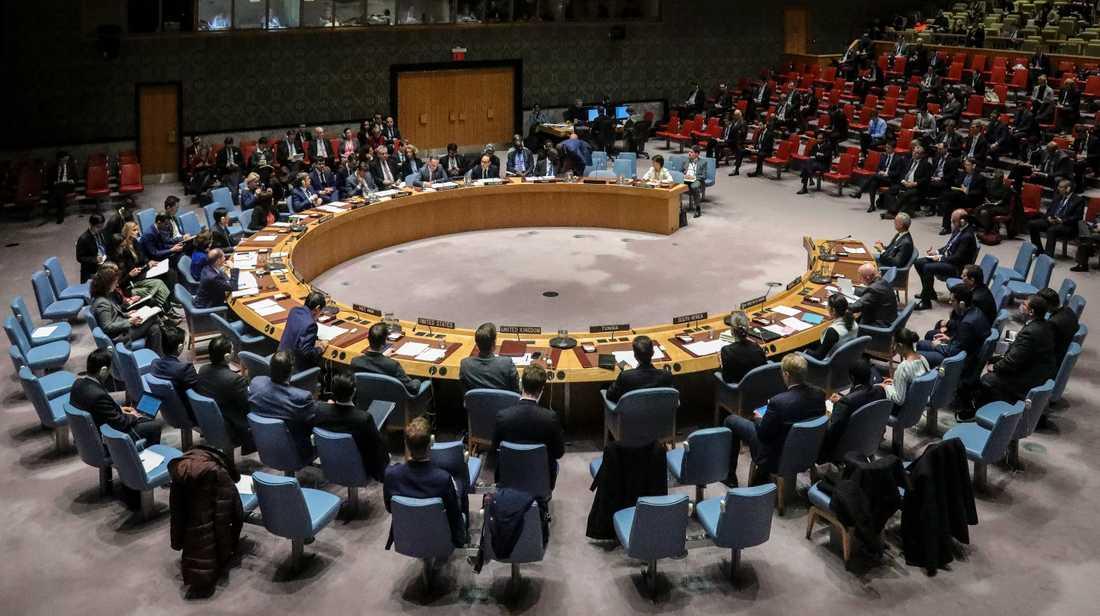 FN:s säkerhetsråd. Arkivbild.