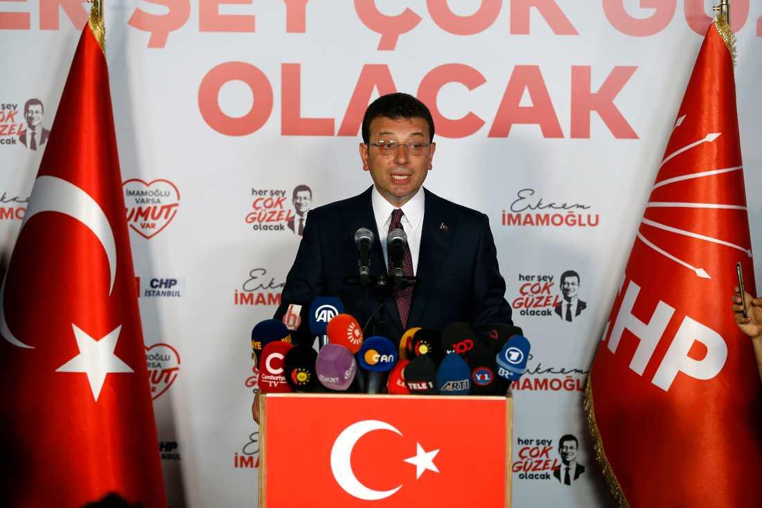 CHP:s kandidat Ekrem Imamoğlu segrade i borgmästarvalet i Istanbul.
