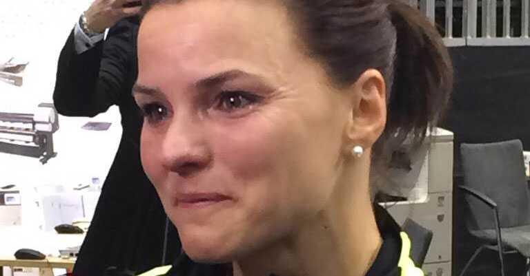 Kallur i tårar efter sin lyckade comeback i Karlsruhe.
