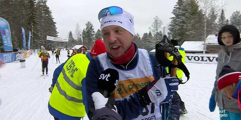 Oskar Westberg i SVT:s intervju efter att han inte klarat repet i Mångsbodarna.