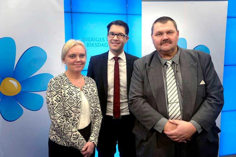 Peter Lundgren (SD), längst till höger.