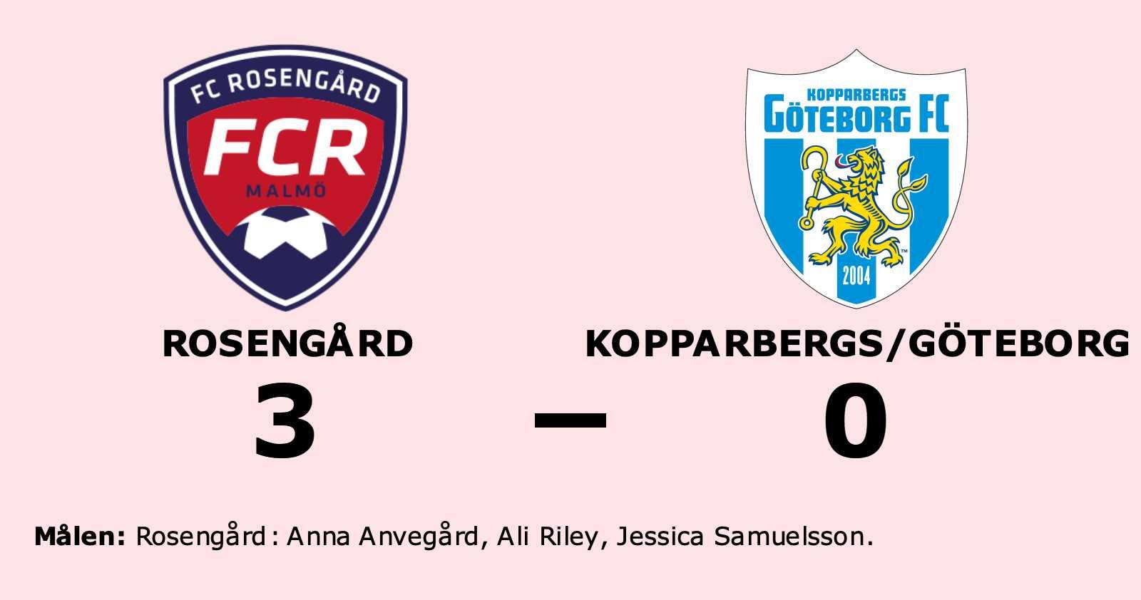 Seger för Rosengård i tidiga seriefinalen mot Kopparbergs/Göteborg