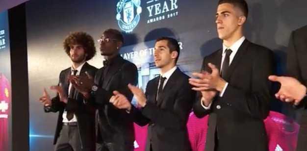 Fellaini, Pogba & Co på Uniteds gala.