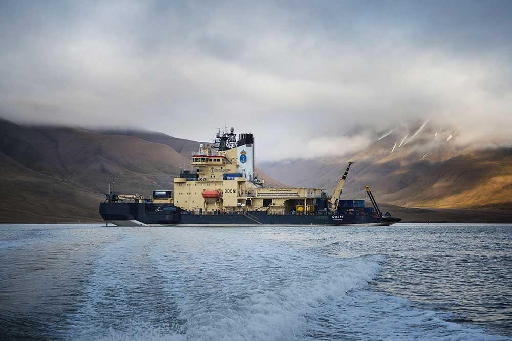 Förutom den vanliga besättningen finns det 45 forskare med ombord på Oden.