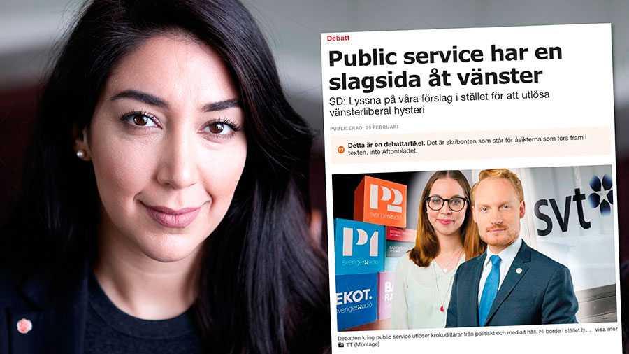 För första gången någonsin har ett svenskt politiskt parti försökt använda sin politiska makt mot medier och tillrättavisa innehållet i program och programledares politiska åsikter, skriver Lawen Redar.