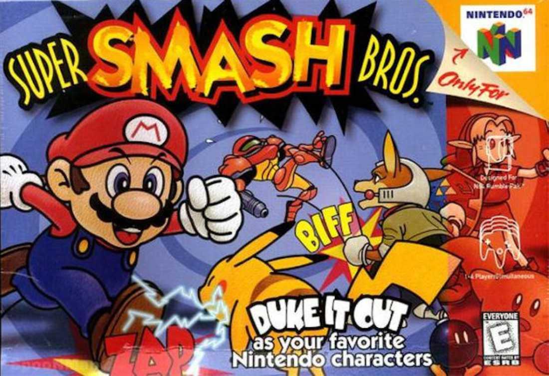 """Super smash bros"" till Nintendo 64."