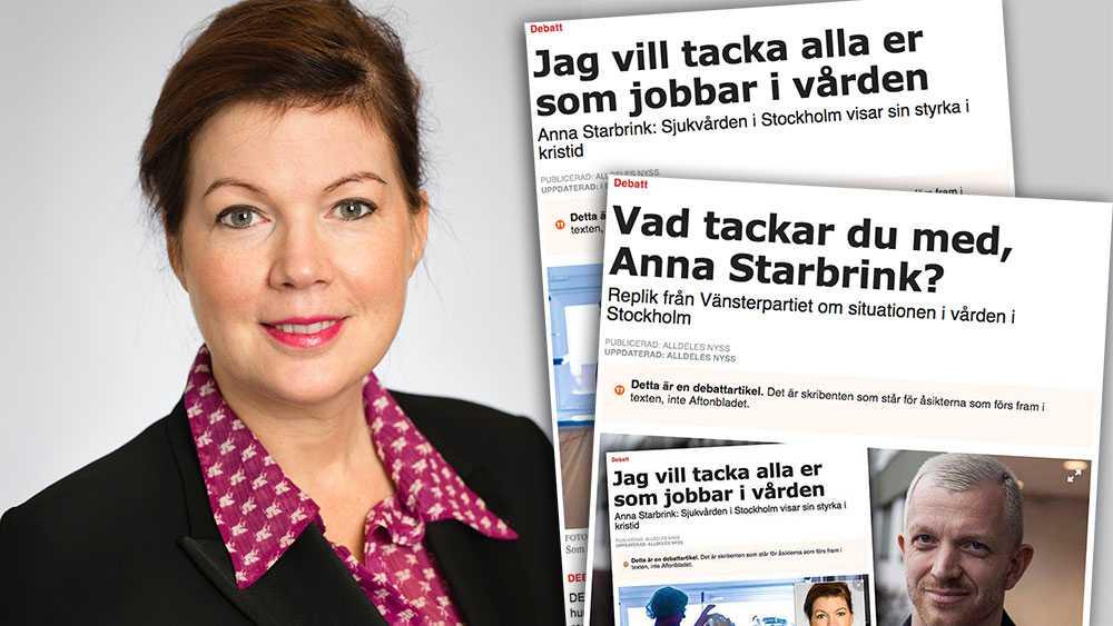 Jag vill inte partipolitisera, men efter vänsterns Jonas Lindberg generalangrepp krävs svar: Om vi följt vänsterns ansvarslösa politik hade beredskapen varit betydligt sämre, skriver Anna Starbrink i en slutreplik om sjukvården i Stockholm.
