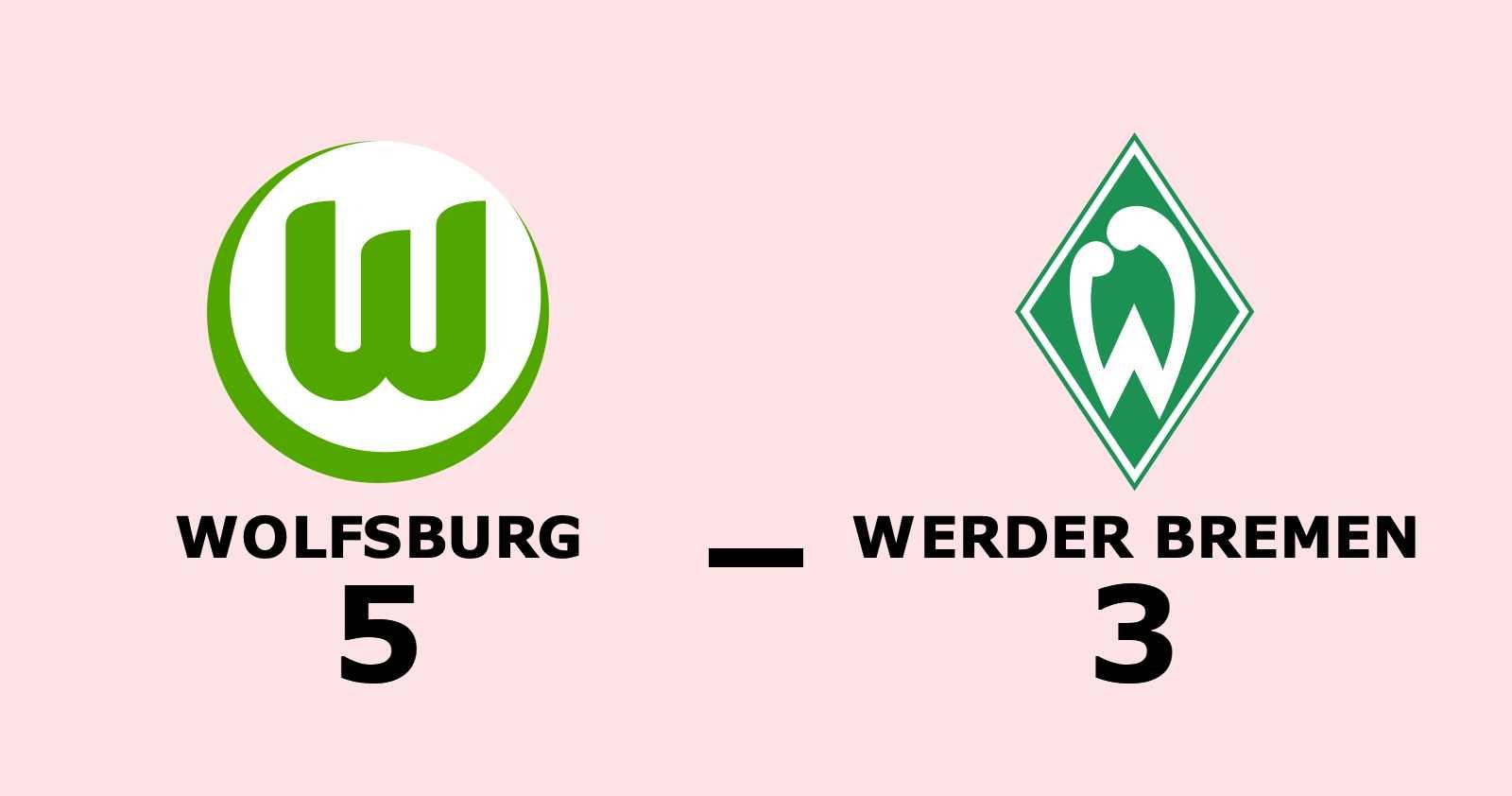 Målexplosion – Wolfsburg sänkte Werder Bremen