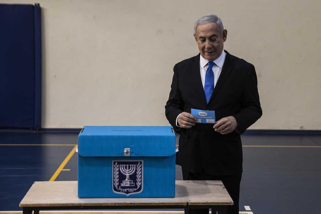 Israels premiärminister Benjamin Netanyahu lade sin röst
