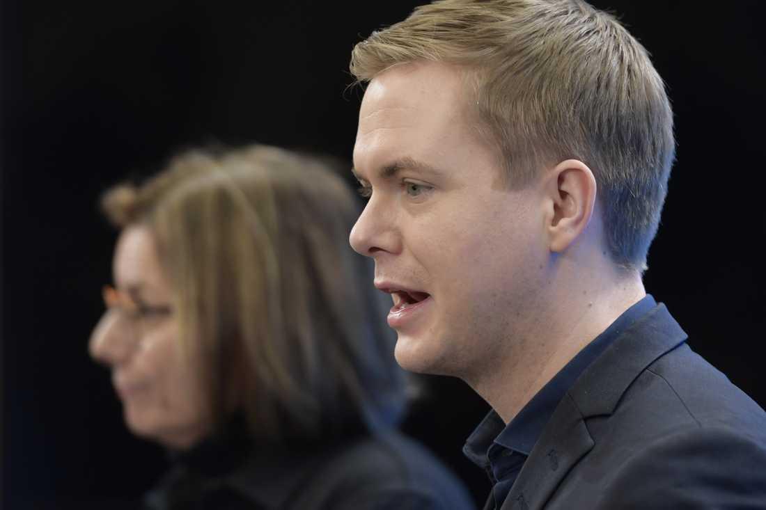 Gustav Fridolin avgår som Miljöpartiets manliga språkrör på partiets kongress i maj. Arkivbild.