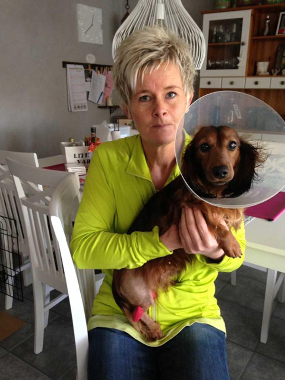 Anna Jönsson med sin hund Qasanova