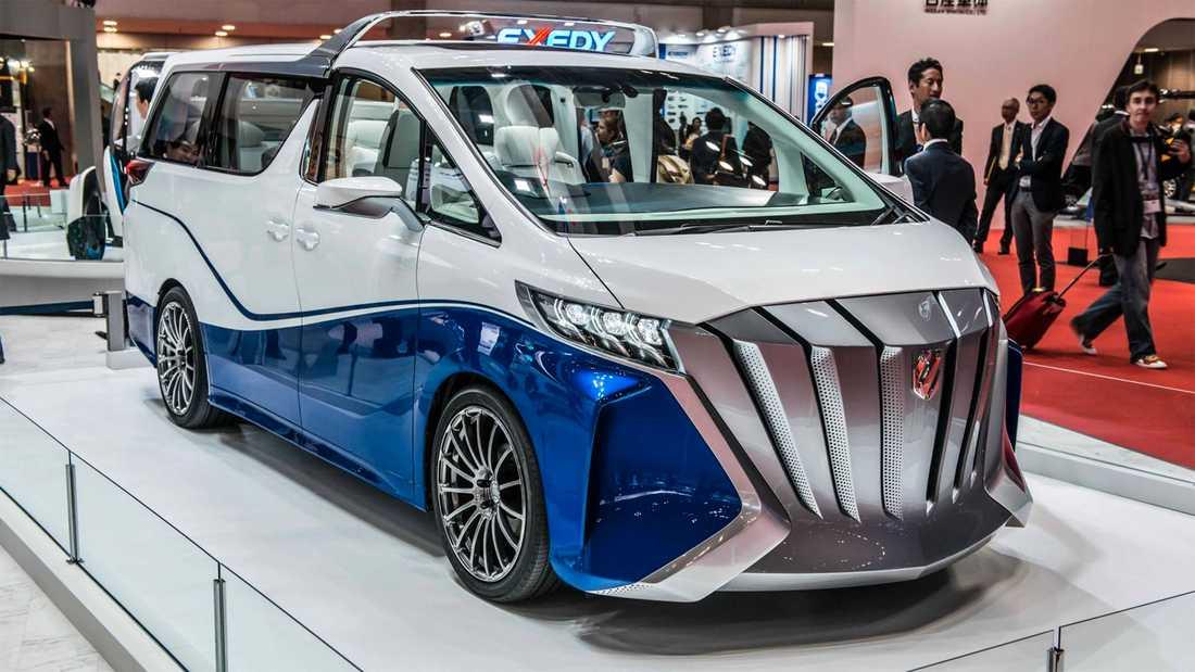 """Karossbyggaren Toyota Auto Body är specialiserade på """"udda"""" design. Deras Alphard Hercule Concept är en minibuss-cabriolet som verkligen sticker ut."""