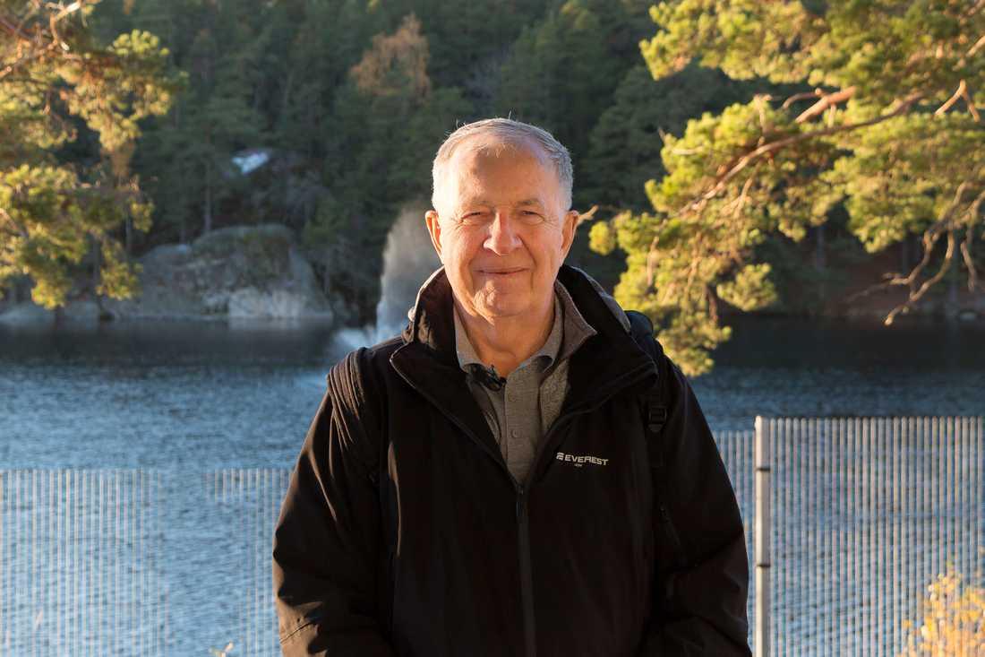 Jan-Erik Kaiser, 73, från Haninge har åkt tåg så gott som varje dag i tio år.