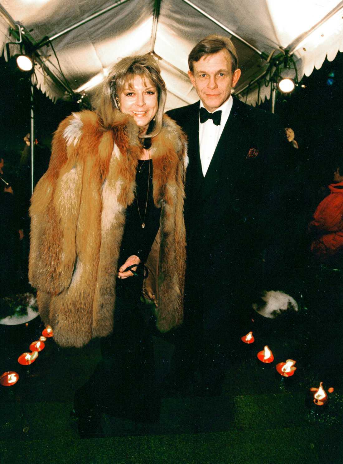 Grynet Molvig med Carl Adam Lewenhaupt 1994.