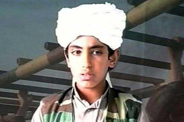 Hamza bin Ladin på en bild från 2001.