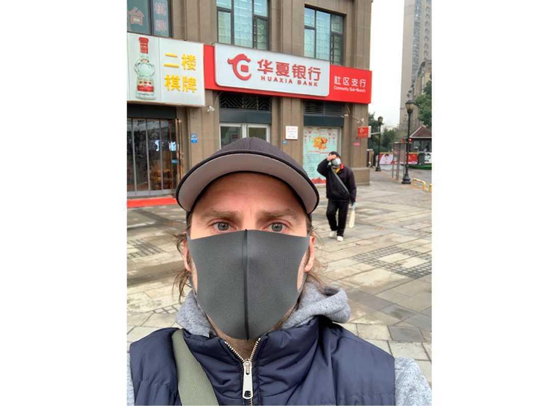 Johan Björnfot i Wuhan.