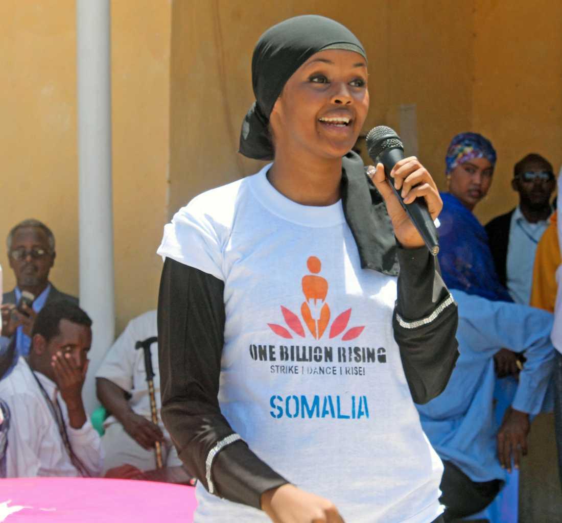 Somaliska Ilwad Elman har ett eget freds- och människorättsscenter i Mogadishu och tillhör favoriterna till årets fredspris. Arkivfoto.