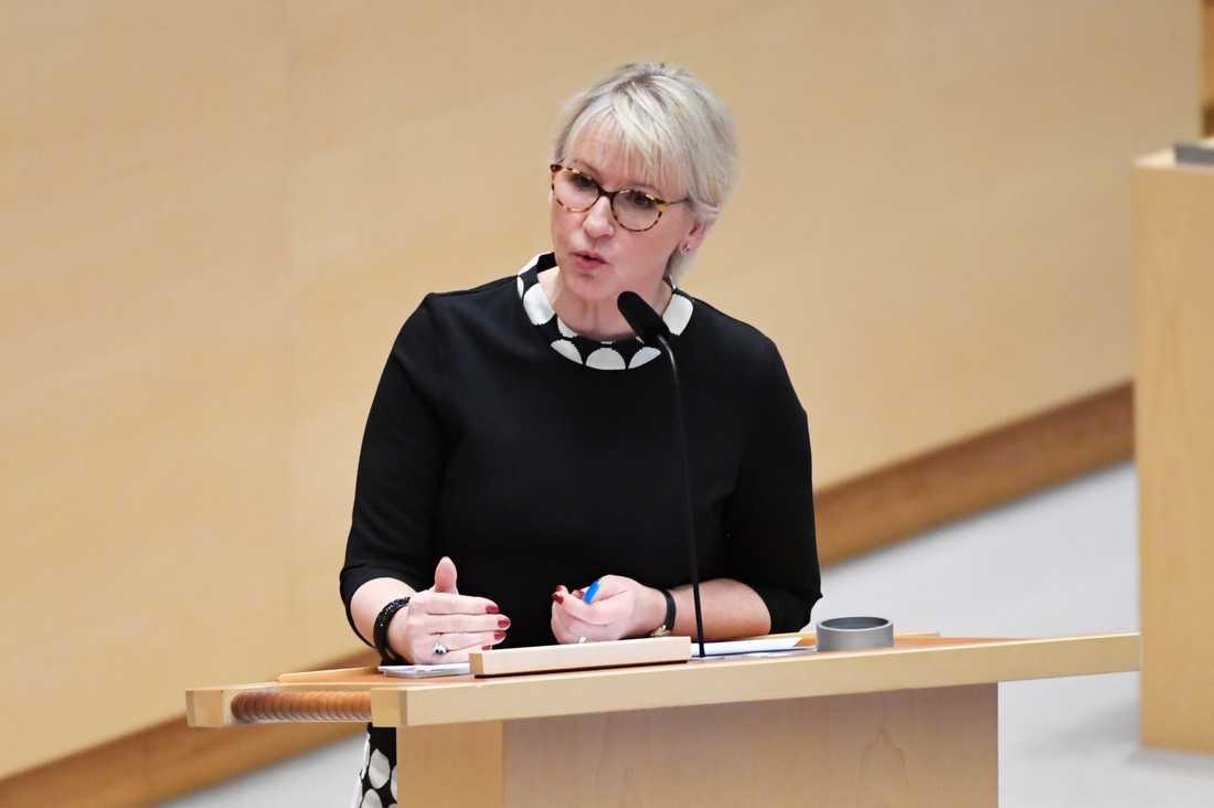 """Margot Wallström kallas den """"populäraste ministern"""" i interna S-dokumentet."""