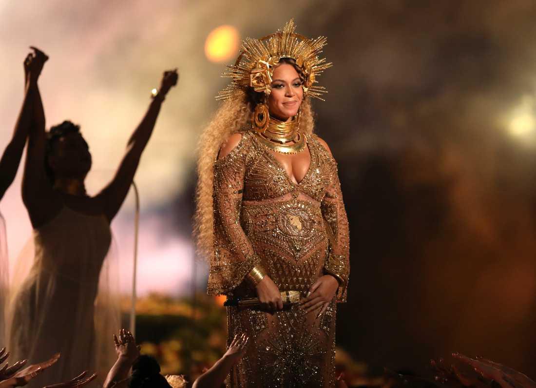 Den amerikanska popstjärnan Beyoncé, här på scen 2017. Arkivbild.