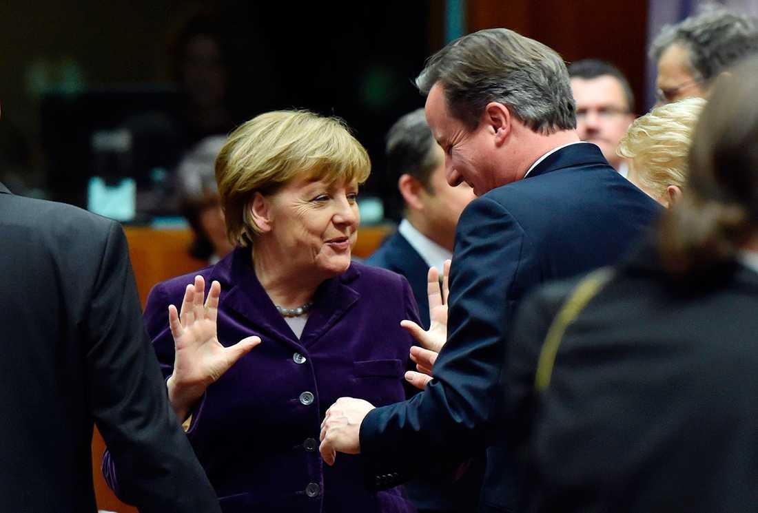Merkel och Cameron.