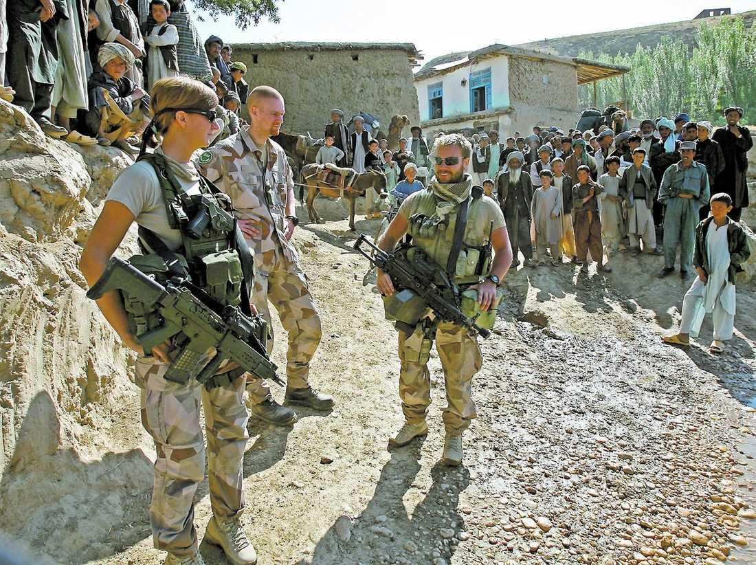 Provocerar Enligt uppgifter till Aftonbladet är motivet Sveriges militära närvaro i Afghanistan.