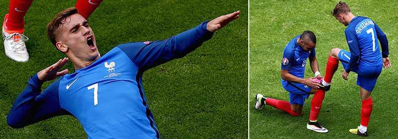 Antoine Griezmann frälste Frankrike med två mål på tre minuter.