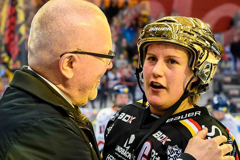 Boork och Eliasson i samband med SM-finalen.