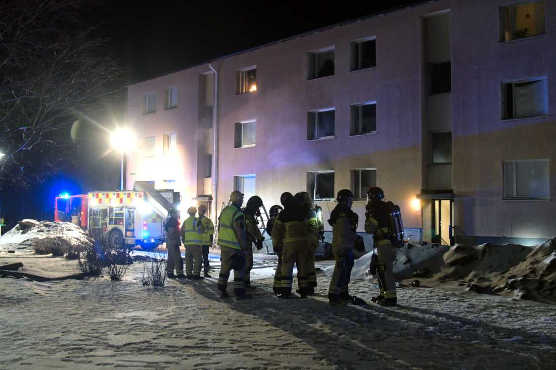 Brand i lägenhet i Sundsvall.