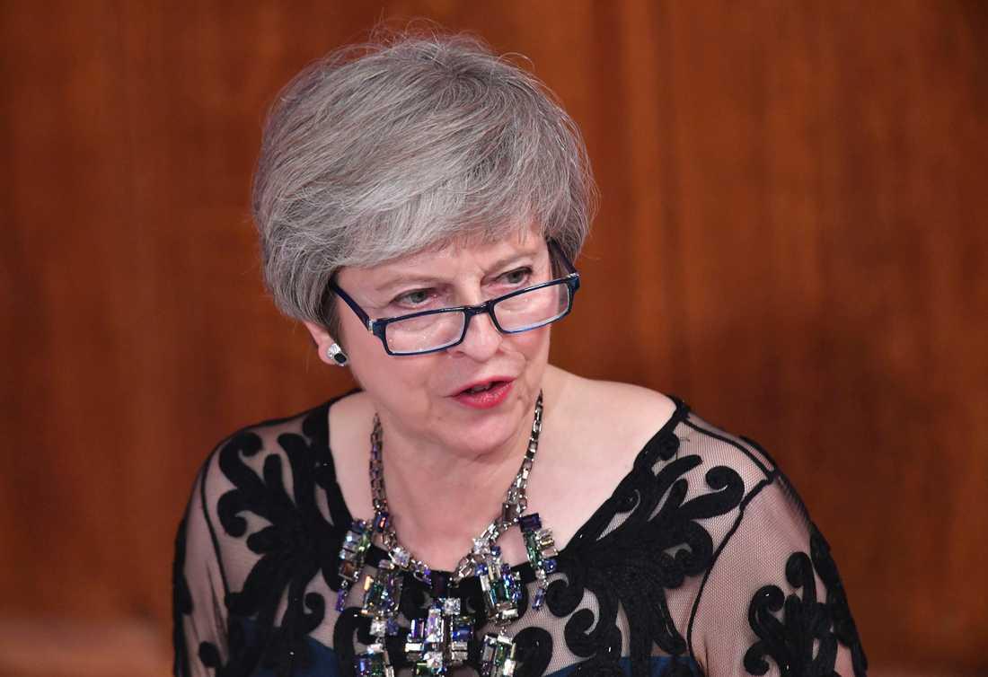 Storbritanniens premiärminister Theresa May ska sälja in utkastet till ett brexitavtal på hemmaplan. Arkivbild från 12 november.