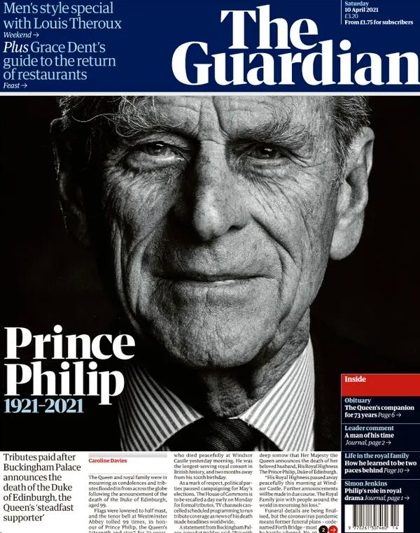 The Guardian håller budskapet kort och koncist.