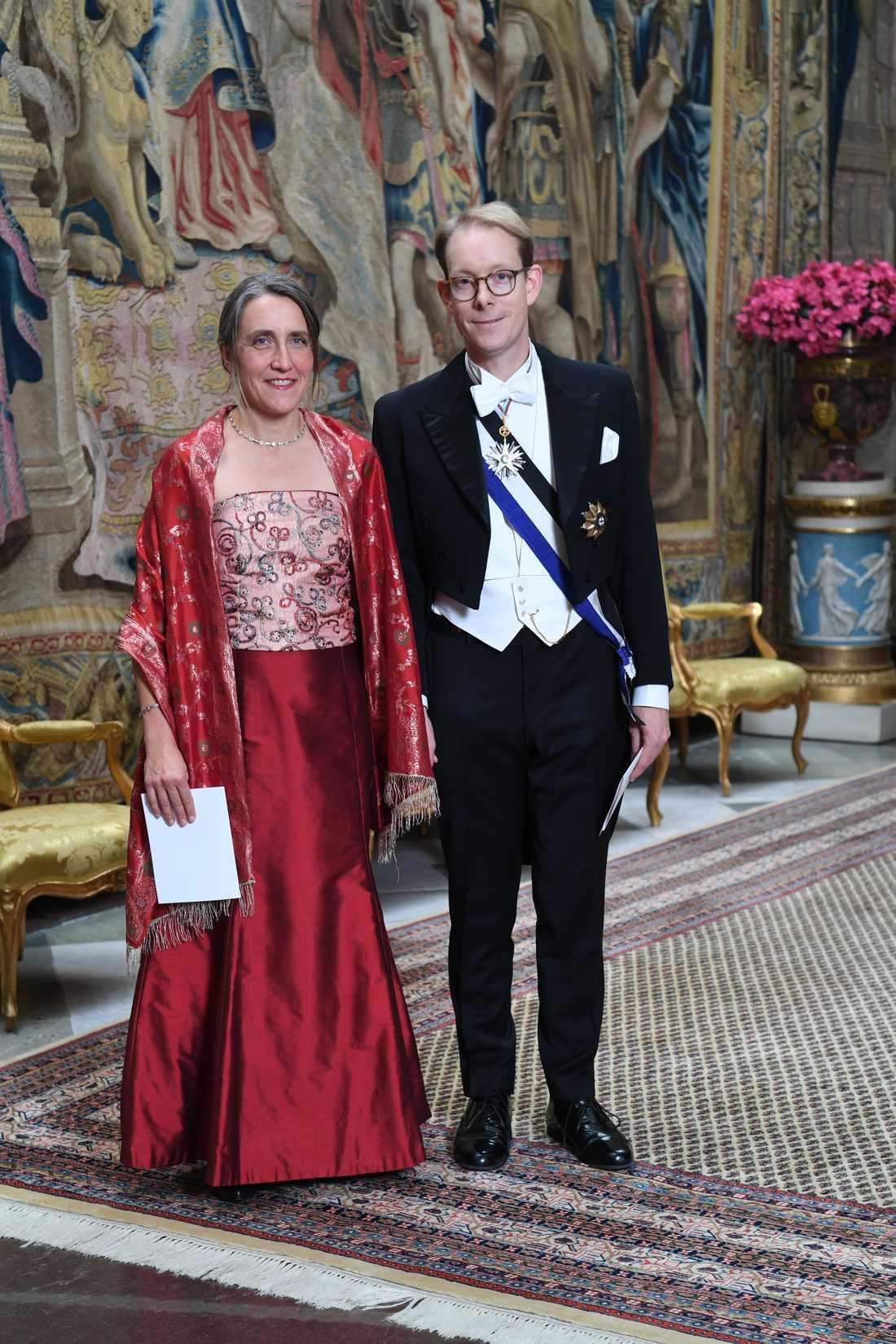Tobias Billström (M) med frun Sofia Åkerman.