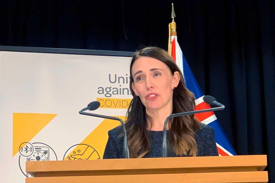 Nya Zeelands premiärminister Jacinda Arden.
