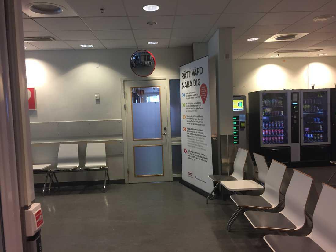 Väntrum på Nya Karolinskas intensivakut
