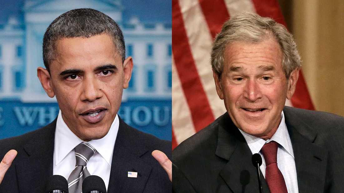 Barack Obama och George W Bush – presidenter som arbetat med kraftiga sanktioner.