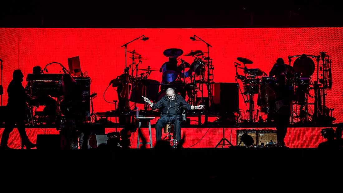 Phil Collins under onsdagens spelning i Friends arena.