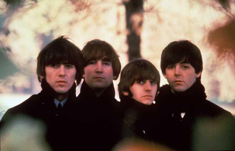 George Harrison, John Lennon, Ringo Starr och Paul Mc Cartney i Beatles när det begav sig.