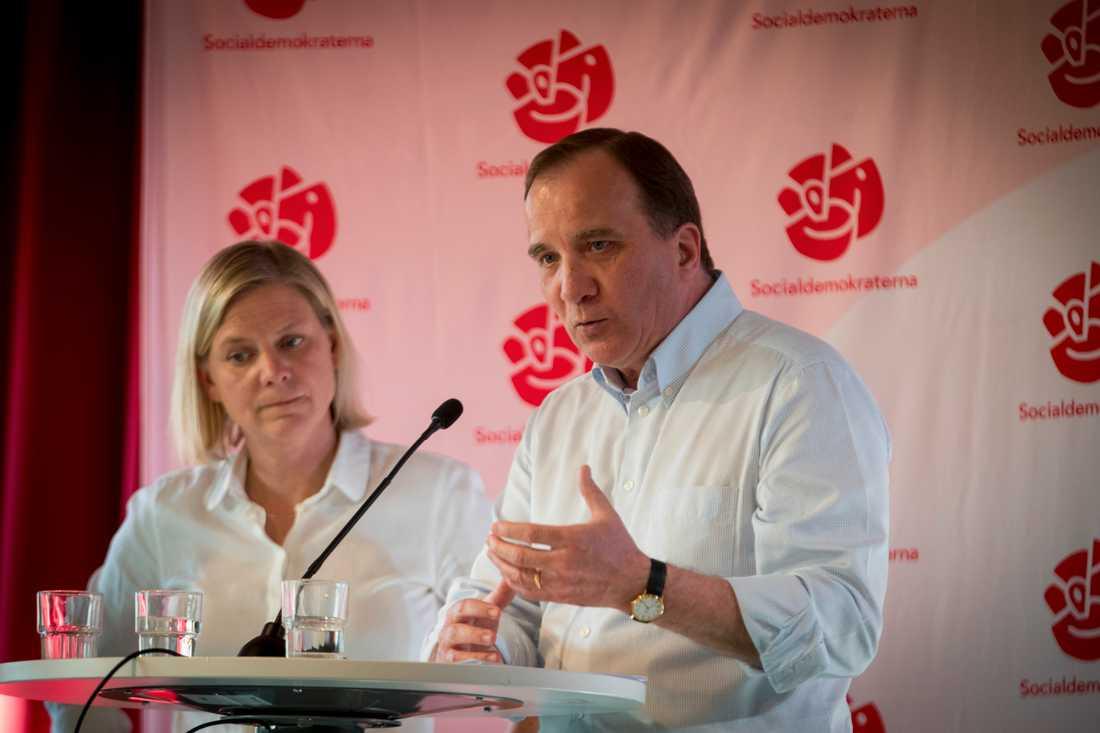 Magdalena Andersson och Stefan Löfven.