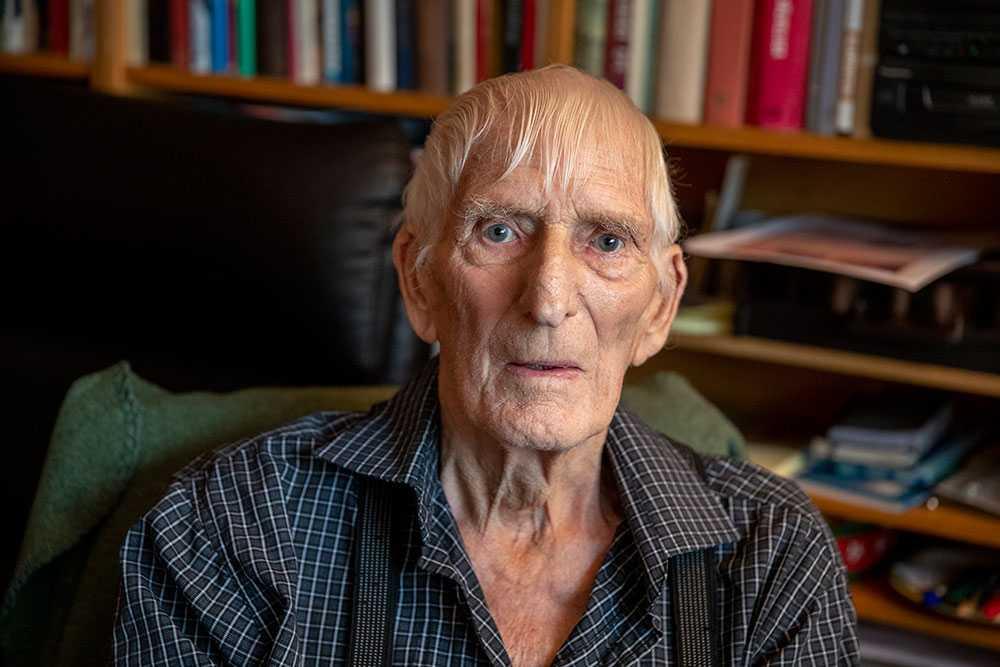 Kjell Nilsson har precis fyllt 90 år. Han fick nyligen träffa Lars Sjövall som han räddade livet på när Lars var tre år gammal och hade fallit i vattnet.