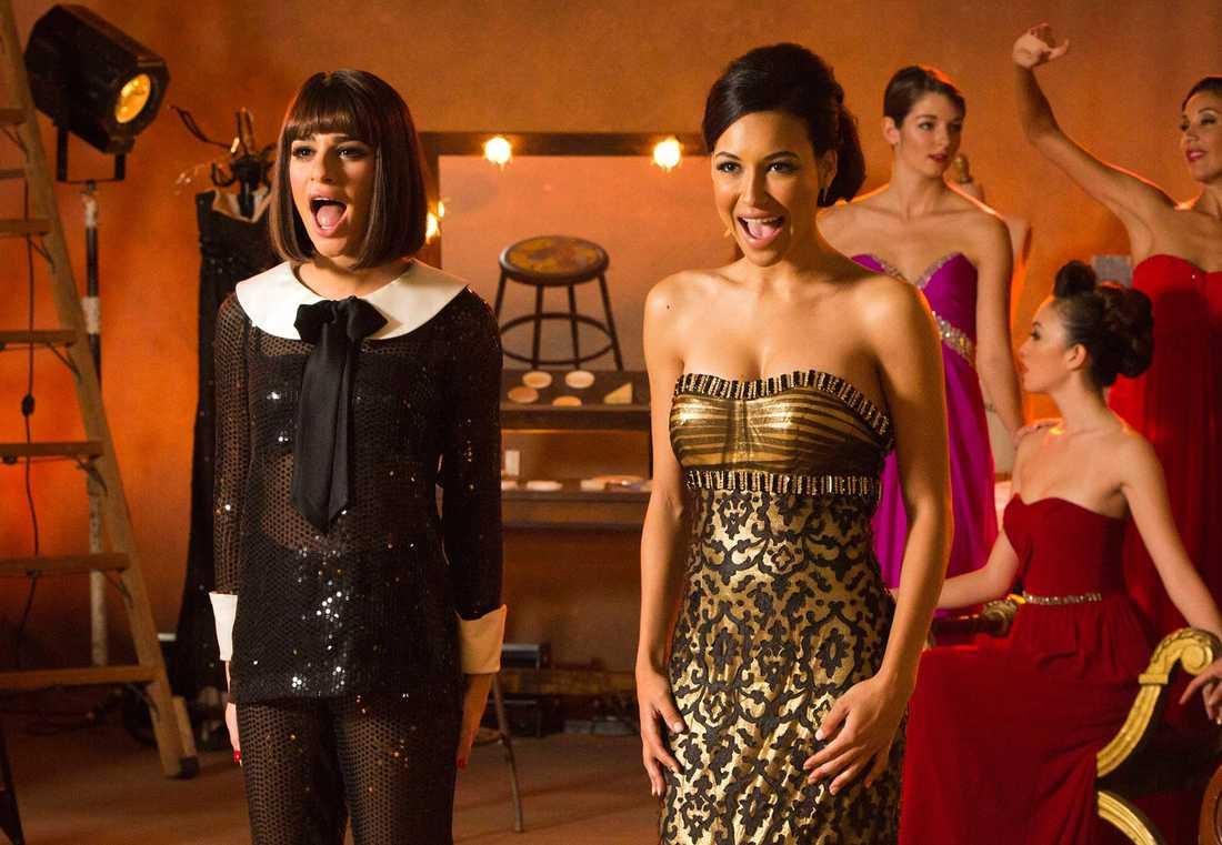 "Lea Michele och Naya Rivera i ""Glee"""