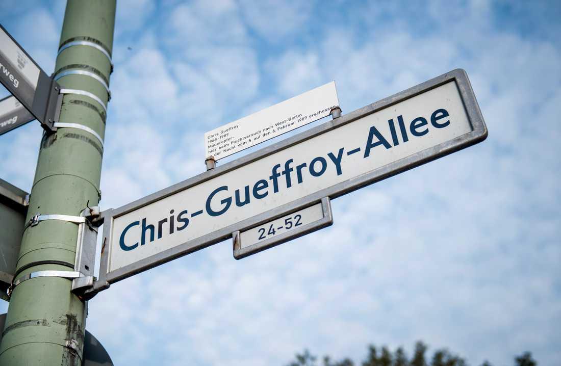 Han har i dag fått en gata uppkallad efter sig.
