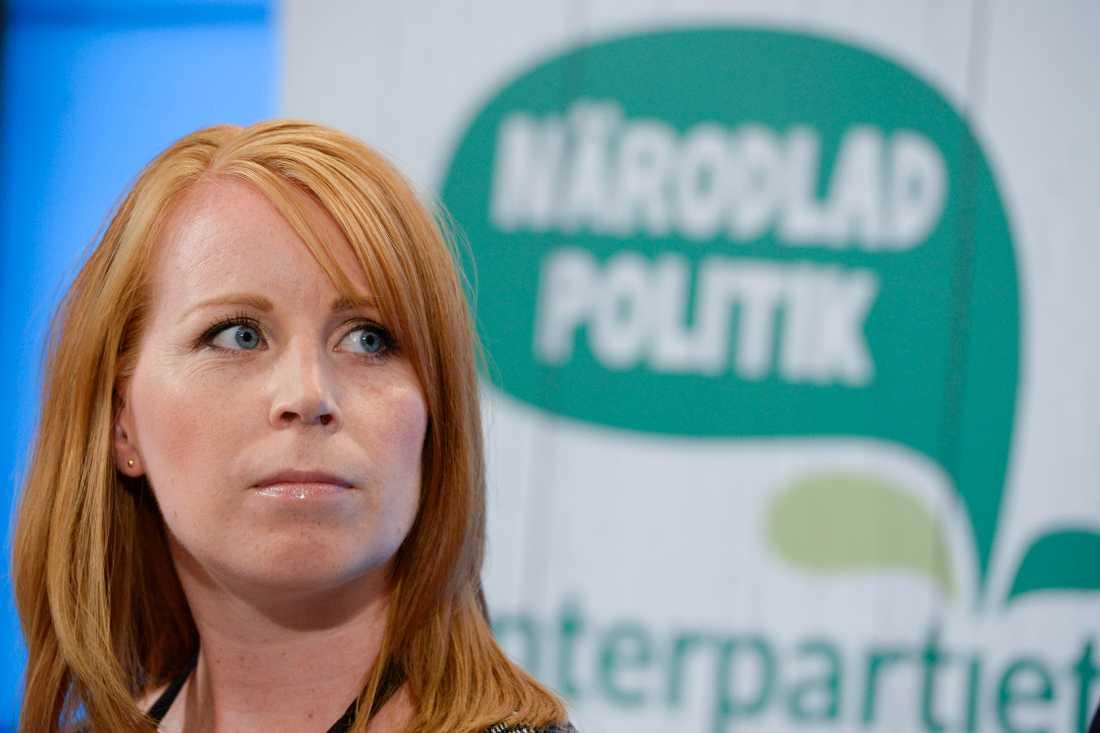 Förtroendet för Centerpartiets partiledare Annie Lööf har rasat. Arkivbild.