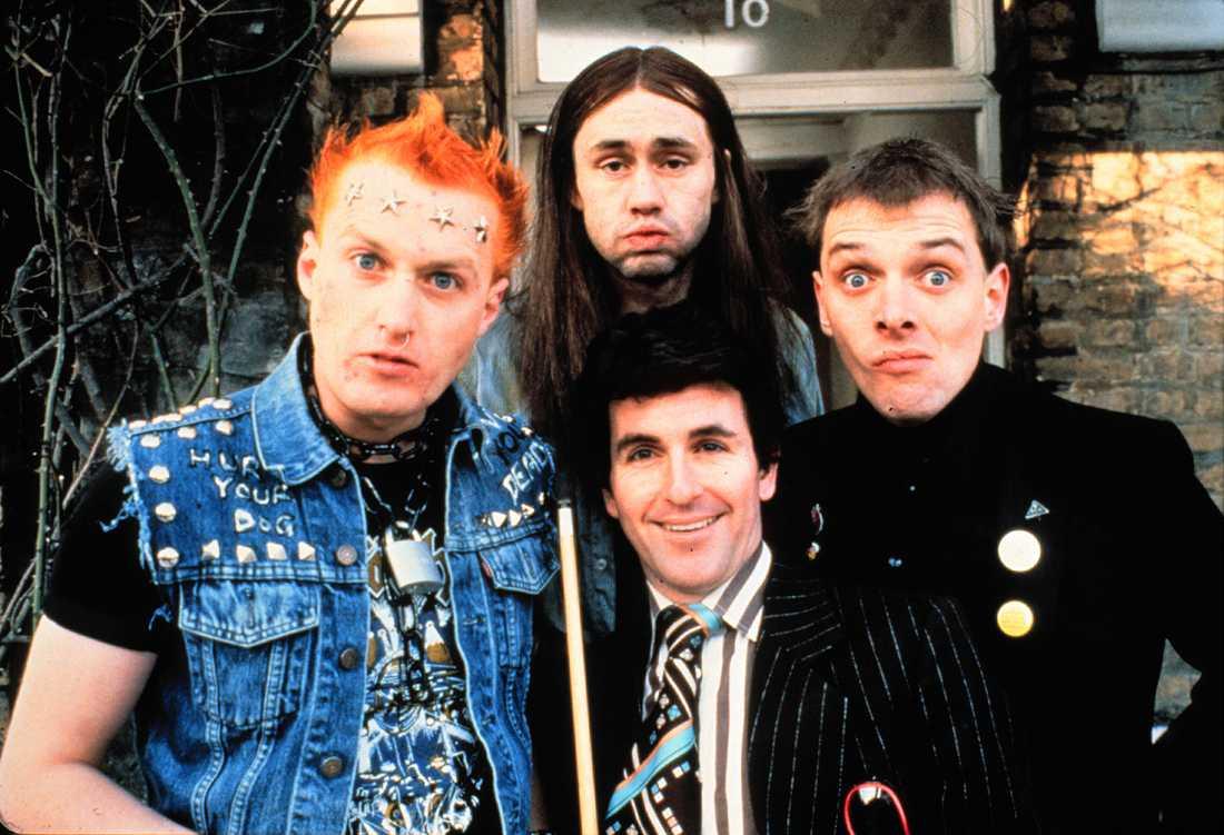 """Vyvyan, Neil,  Mike och Rik i """"Hemma värst""""."""