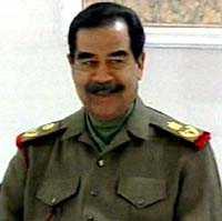 Saddam Hussein visades i irakisk tv.